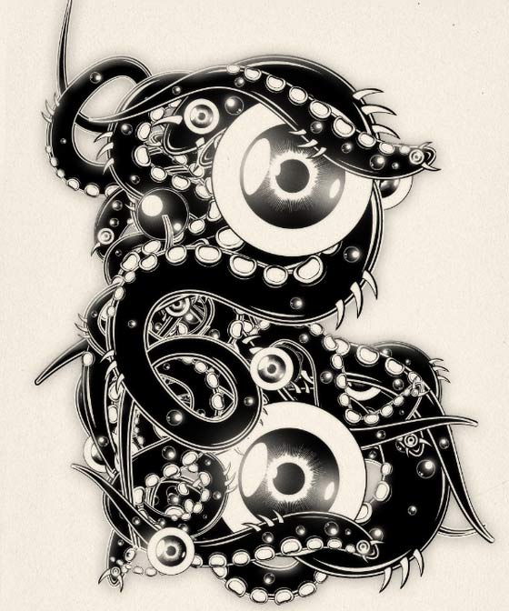 tipografías con ojos