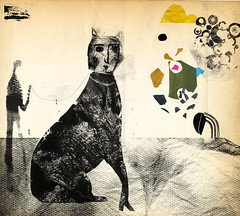 Big Cat (andrea_daquino) Tags: blackandwhite abstract art collage illustration cat graphic drawing printmaking