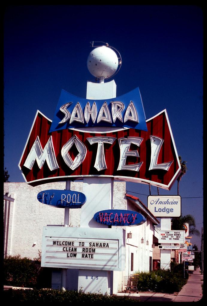 sahara motel anaheim kodachrome