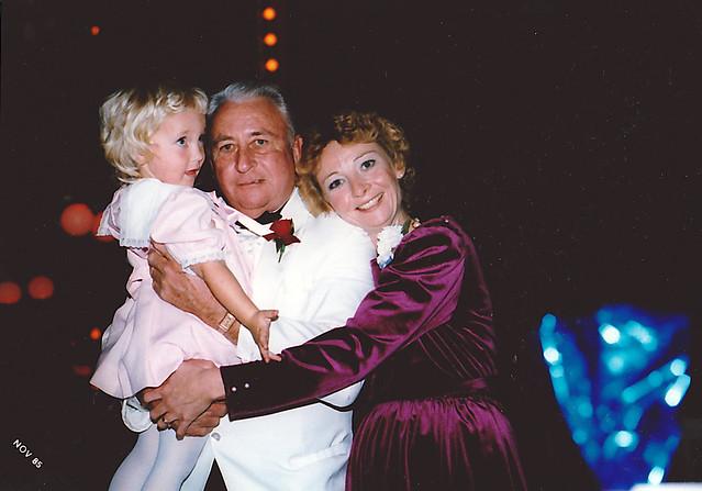 Grandpa, Mom and I