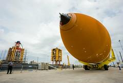 ET-122 Rollout to Barge (NASA, 9/20/10) (NASA's Marshall Space Flight Center) Tags: katrina tank september nasa et spaceshuttle maf assembly 2010 122 externaltank michoud gerstenmaier michoudassemblyfacility et122 bldg420
