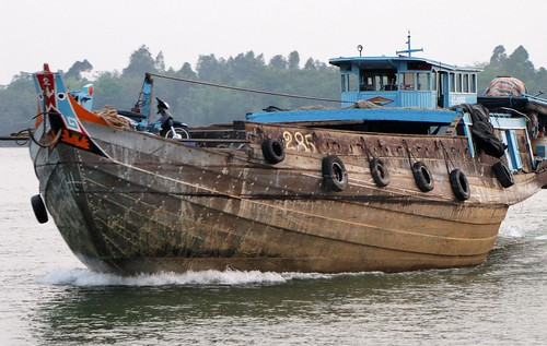 Fishing Vessel On Mekong River