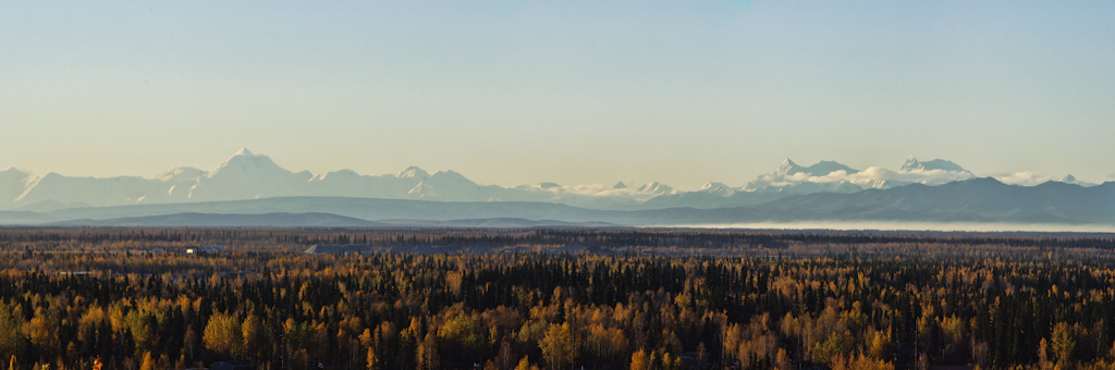 Panorama of the Alaska Range