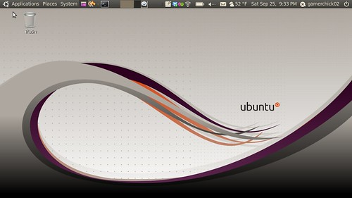 Ubuntu Netbook Screenshot, Sept 2010