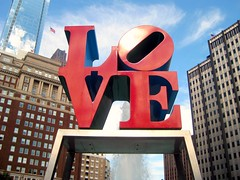 Love. (FlipMode79) Tags: blue red sky usa white love philadelphia fountain clouds reflections americanflag lovepark philly usaflag hcs illadelph flipmode79