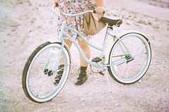 (Gaby J Photography) Tags: blue film bike bicycle 35mm desert beachcruiser flowerdress urbanoutfittersboots urbanoutfittersbag arianajeter