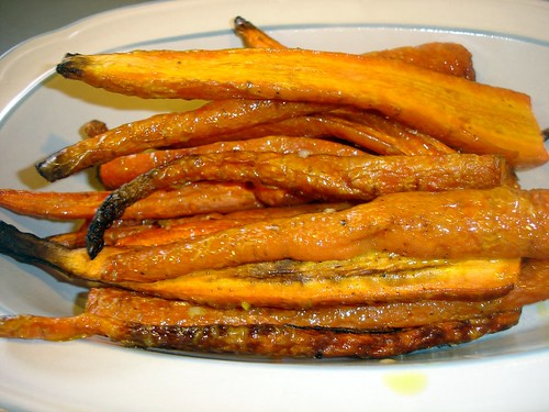 Roasted Carrots in Dish