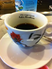 This espresso brought to you in a cup designed by Pedro Almodovar.