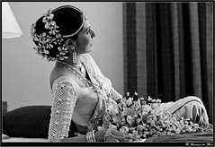 The Relaxed Bride (Harien De Mel) Tags: wedding blackandwhite bride saree weddingshoot kandyan navini srilankanwedding relaxedbride kandyanbride hariendemel kandyandress navinitharangawedding ambiantlit ambientlit