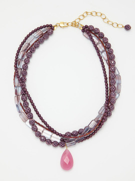 David Aubrey necklace lilac-grey