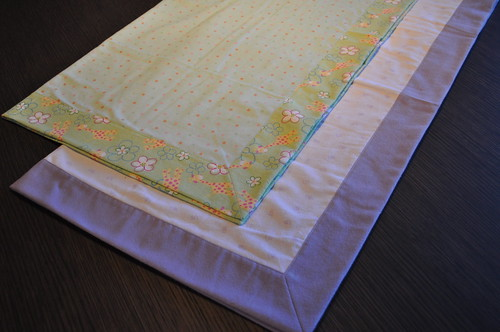 Mitered Self Binding Baby Blankets