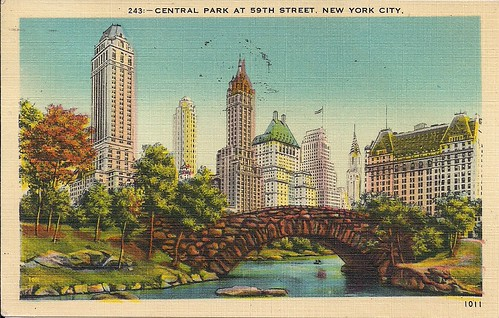 NYC Postcards - Central Park at 59th Street (Front)