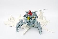 LL 195 - NCS Reconnaissance  Walker (Chiefrocker9000) Tags: lego space walker slug glug moc ncs neoclassicspace swisslug reconwalker