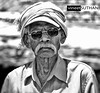 Muthuppa|The temple Gaurd (vineetsuthan) Tags: old city portrait white man black sunglasses shirt temple hill bangalore khaki grand cap electronics and specs mustache 70300mm tamron singh gaurd nikond300s turnab vineetsuthan muthuaapa