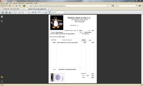 Nuevo formato de factura en Codeka MX