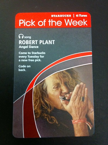 Starbucks iTunes Pick of the Week - Robert Plant - Angel Dance