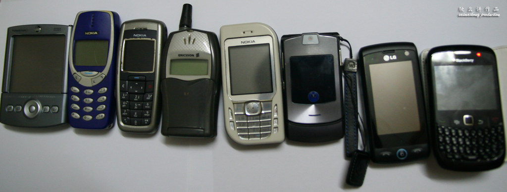 Some of the phones that I'm still keeping and some of my collection not sure gone where d :(