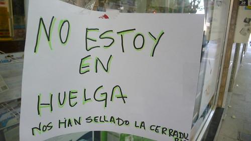 cartel huelga