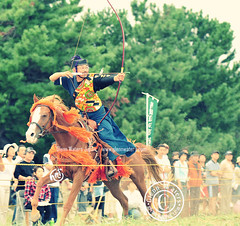 Yabusame archery contest Japan (Glenn Waters in Japan.) Tags: horse sport festival japan japanese nikon action traditional martialarts aomori  archery japon horseback yabusame     d700 nikond700  glennwaters
