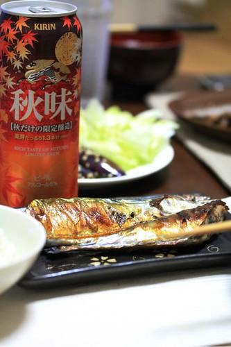旬の秋味と旬の秋刀魚