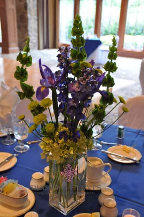 Centerpieces for a wedding at the Virginia Tech German Club