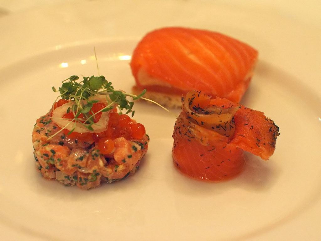 Mahi Wines Dinner - Salmon plate