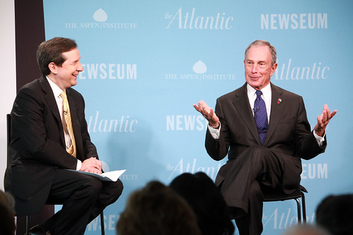 Mayor Bloomberg participates in the Washington Ideas Forum – One-on-One Conversation with Chris Wallace – hosted by The Atlantic Magazine, the Newseum, and the Aspen Institute.