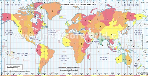time zone map world. World Time Zone Map