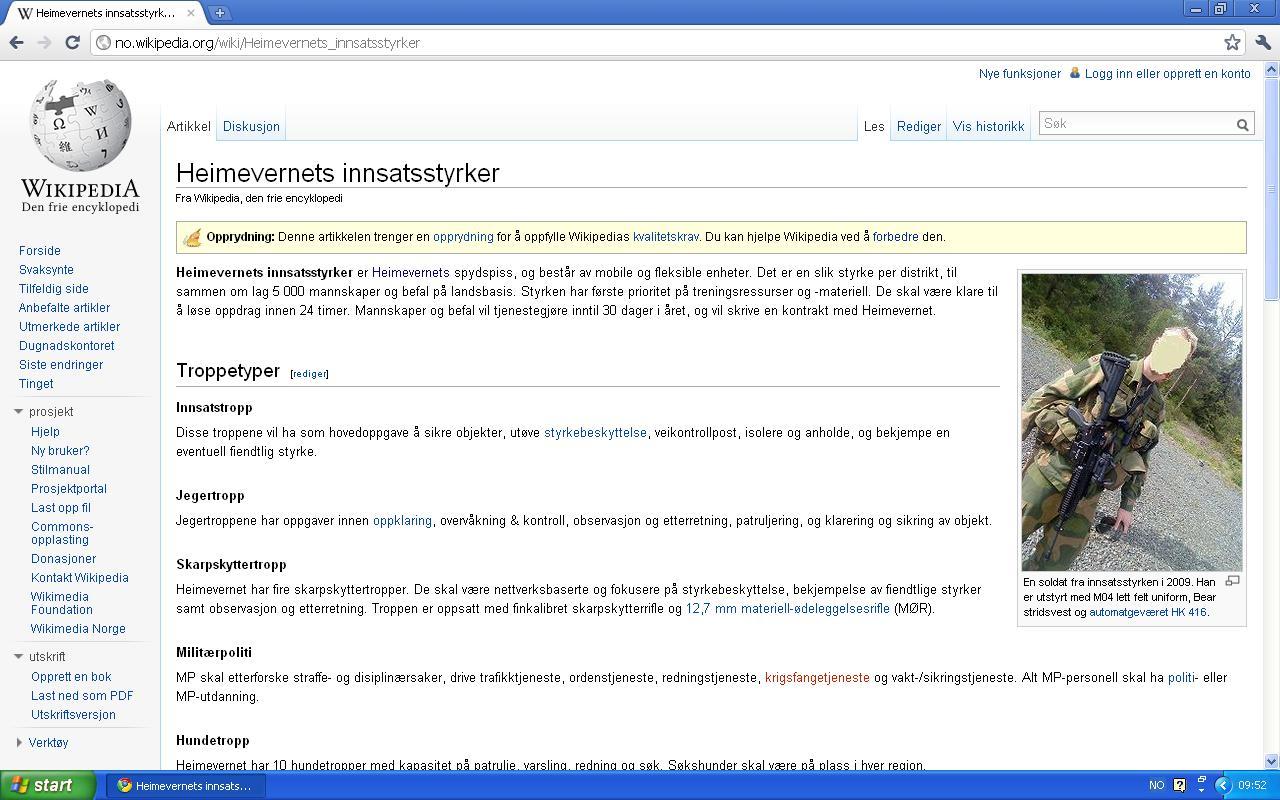 innsatsstyrker egen artikkel wiki