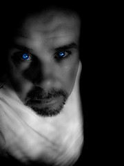 Its in the eyes (CWhatPhotos) Tags: pictures camera blue portrait bw white man black colour male eye digital portraits self canon that paintshop photo eyes foto power with shot artistic photos over picture 9 powershot have adobe pro emotional exposed compact selective s90 lightroom monochromed selfportraitsunlimited cwhatphotos