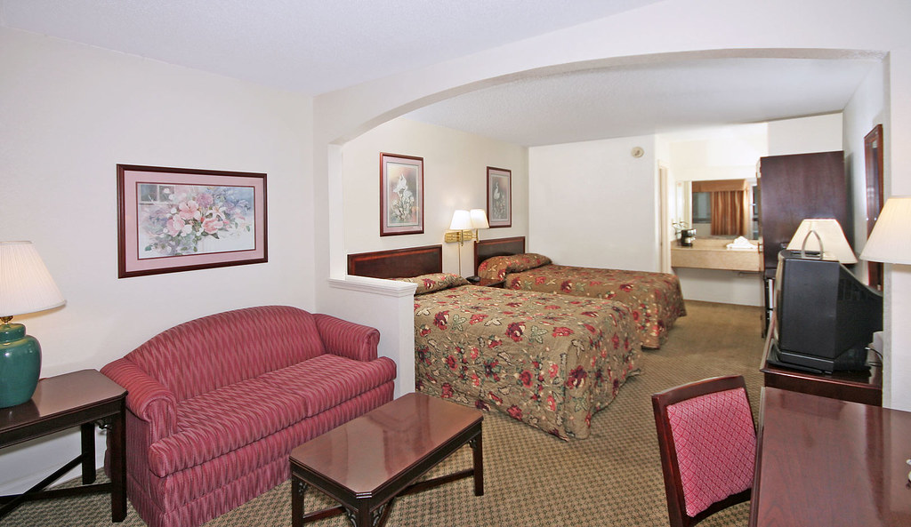 Suite with two double beds at Suburban Extended Stay in Florence, SC.