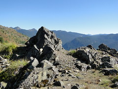 Rocky outcrop just off Shriner Peak trail.