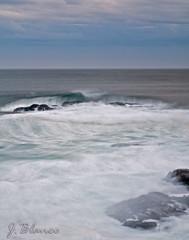 Composin, (Baiona) ((JB)  jbstudio79) Tags: ocean water mar agua wave cielo nubes seda temporal ola