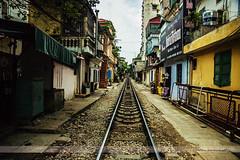 Railroad Track, Hanoi, Vietnam (Seven Seconds Before Sunrise) Tags: travel mannequin architecture gate asia southeastasia vietnam hanoi railroadtrack