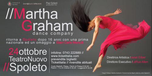 LA MARTHA GRAHAM DANCE COMPANY TORNA A SPOLETO DOPO 16 ANNI