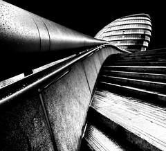 City Hall >>> London (Semi-detached) Tags: city uk bridge white black london tower glass thames architecture modern hall mayor map united sigma kingdom norman september foster gradient lead 1020 2010 semidetached