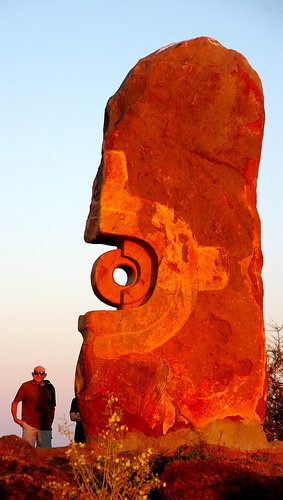 Sunset at the Sculpture Symposium, Broken Hill.