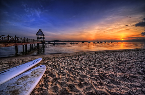 Changi Beach Sunrise by Andrew JK Tan