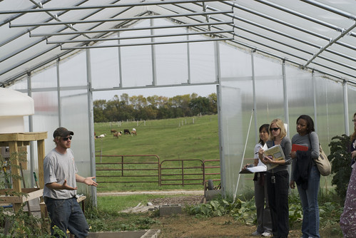 A local farmer explains how his hoop houses allow him to maintain his crops through a tough Minnesota winter.