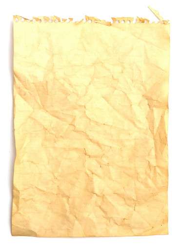 Old crumpled note paper / Skobrik