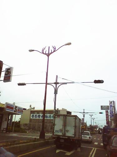 鹿港鹿角路燈