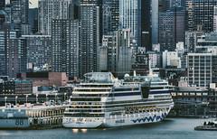 AIDAluna, New York City (mudpig) Tags: city nyc newyorkcity cruise sunset ny newyork sphinx skyline geotagged newjersey ship cityscape nj hudsonriver passenger unioncity hdr aida weehawken unionhill mudpig stevekelley aidaluna pier88