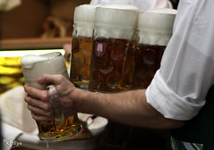 Arms Full (Kat Eye View) Tags: friends beer germany munich oktoberfest mug