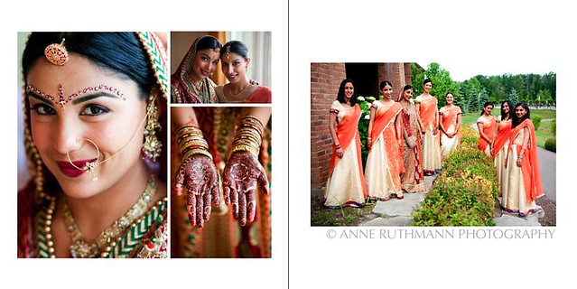 Indian Wedding Ceremony Bridesmaid Portraits