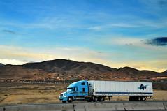gti gordon trucking inc by highland exit 2 (houstonryan) Tags: blue baby truck driving diesel turquoise corridor 15 semi company gordon interstate trailer gti shipping inc trailers trucking incorporated i15