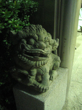 stone lion-left side