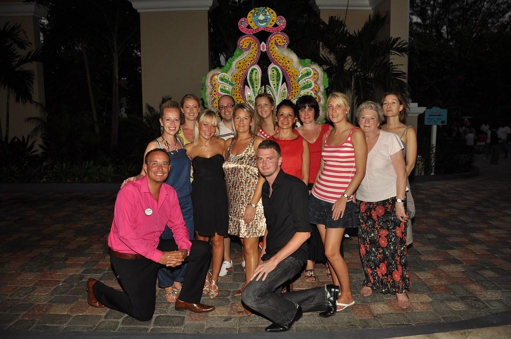 Nic & friends at Sandals Royal Bahamian