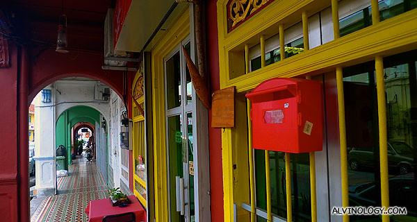 More brightly coloured architecture