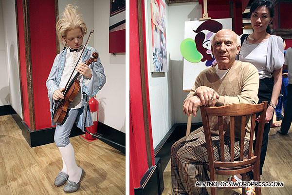 Child prodigy, Mozart and famous painter, Pablo Picasso