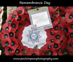 Remembrance 2009 (Paul Simpson Photography) Tags: remember police wreath poppy poppies remembranceday remembrance poppyday humbersidepolice paulsimpsonphotography
